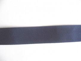 Keperband 3cm. donker blauw
