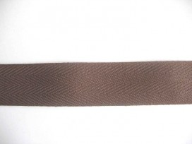 Keperband 3 cm. Bruin