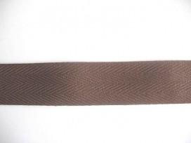 Keperband Bruin  3cm breed