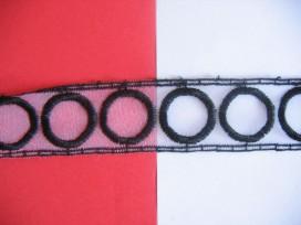 7k Sierband Doorschijnend met cirkels 35 mm. 379