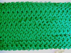 Zigzagband Donkergroen 12mm.