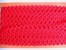 Zigzagband Rood 10mm.