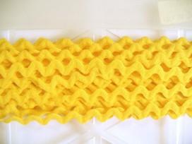 Zigzagband Kanarie geel 10mm.