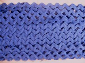 Zigzagband kobalt 10mm. 809