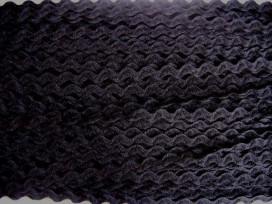Zigzagband Zwart 10mm.