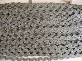 5n Zigzagband Grijs 10mm. 813