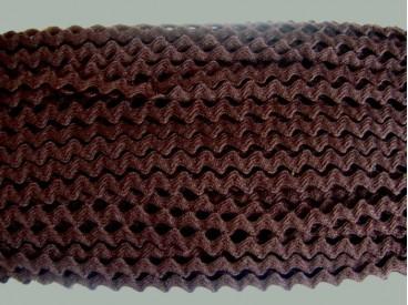 4u Zigzagband Donkerbruin 8mm. 814