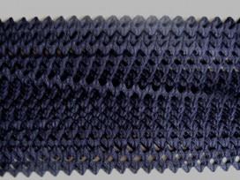 5p Zigzagband Donkerblauw 10mm. 815