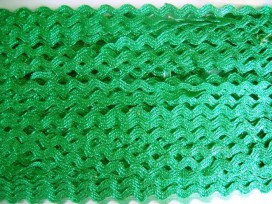 Zigzagband Glanzend groen 10mm