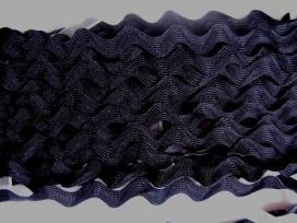Zigzagband Zwart 12mm.