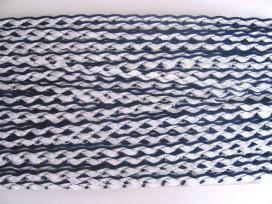 5s Zigzagband Blauw/wit 10mm. 818