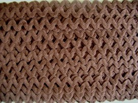 5z Zigzagband Chocoladebruin 12mm. 831