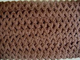 Zigzagband Chocoladebruin 12mm.