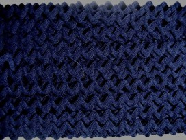 ZIgzagband Donkerblauw 12mm.