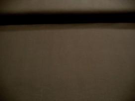 Poplin katoen Donkerbruin Stretch 3032