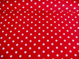 Middelstip katoen Rood/wit 8276