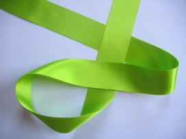 Satijnlint Lime felle kleur 40 mm breed OP is OP