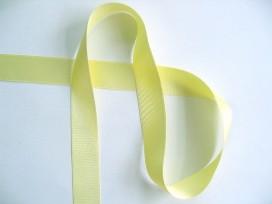 Satijnlint Zacht geel 25mm. 217H