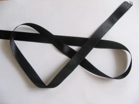 Zwart satijnlint dubbelzijdig 1,5 cm breed