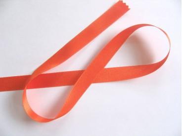 Oranje satijnlint dubbelzijdig 1,5 cm breed