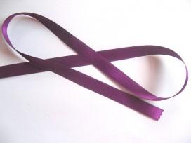 Satijnlint Donker paars 15mm.   286