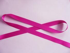 Donker pinkkleurig satijnlint dubbelzijdig 1,5 cm breed