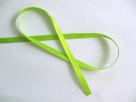 Satijnlint Lime felle kleur 10 mm breed  OP is OP