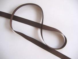 Satijnlint Donkerbruin 10 mm breed