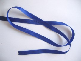 Satijnlint Kobalt 10 mm breed