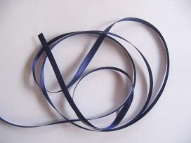 Satijnlint Donkerblauw 6mm.