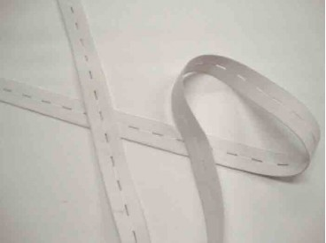 Knoopsgaten elastiek 20 mm. wit