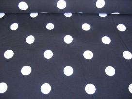 Grote stip katoen Zwart/wit 8283