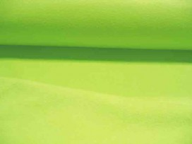 Limekleurige anti pilling polar fleece. 100% poly 1.50 mtr.br.