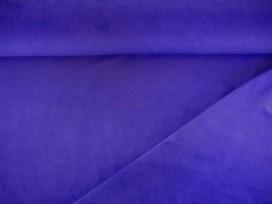 Kobalt kleurige Nicky velours.  80%kat./20%pe.  1.50 mtr.br.