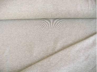 Tricot lichtgrijs gemeleerd, mooie kwaliteit jersey van de firma Nooteboom.  92% katoen/8% elastan  1,60 meter breed  240 gram p