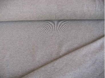 Tricot grijs gemeleerd, een mooie kwaliteit jersey  92% katoen/8% elastan  1,60 meter breed  240 gram p/m²
