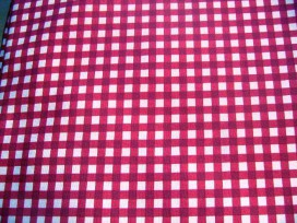 5a Boerenbont ruit rood Vichy Rood 2.60 mtr.br. 7810