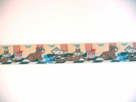 Sierband Hond en konijn zand   O-834