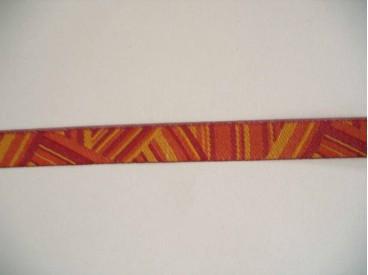 Sierband Oranje/rood patroon   O-841