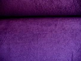 Badstof per meter € 9,95. Mooie kwaliteit paarse dubbelgeluste badstof. 90% katoen/10%PL 1.42 mtr.br.
