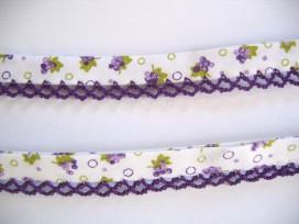 4u Biaisband met paarse ruche en bloem 46