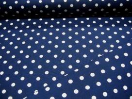 Middelstip katoen Donkerblauw/wit 8288