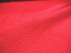 Badstof per meter € 9,95. Mooie kwaliteit helderrode badstof. Dubbel gelust. 90% katoen/10%PL 1.42 mtr.br.