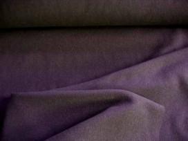 Wollen stof effen stretch Donkerbruin 7600PL