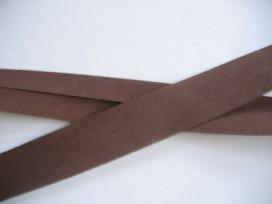 Biaisband Donkerbruin 3 cm. 881