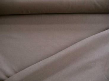 Tricot taupe/grijs, een mooie kwaliteit jersey  92% katoen/8% elastan  1,60 meter breed  240 gram p/m²