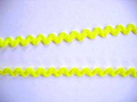 Zigzagband Citroengeel 10 mm.