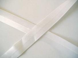 Satijnbiaisband Wit 2cm. 009