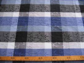 4x Ruit Kobalt/zwart/wit/grijs 0252-5N