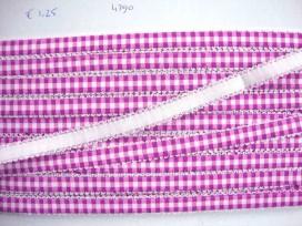 5a Boerenbont elastisch band Paars 4390
